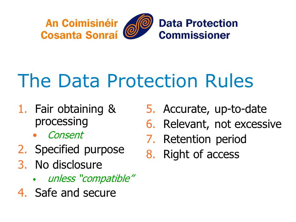 The Data Protection Rules