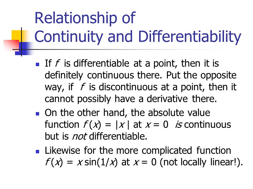 differentiability and continuity relationship quotes