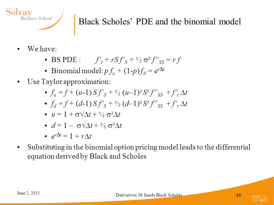 proof of black scholes Chapter 8 black-scholes equations 1 the black-scholes model up to now, we only consider hedgings that are done upfront for example, if we write.