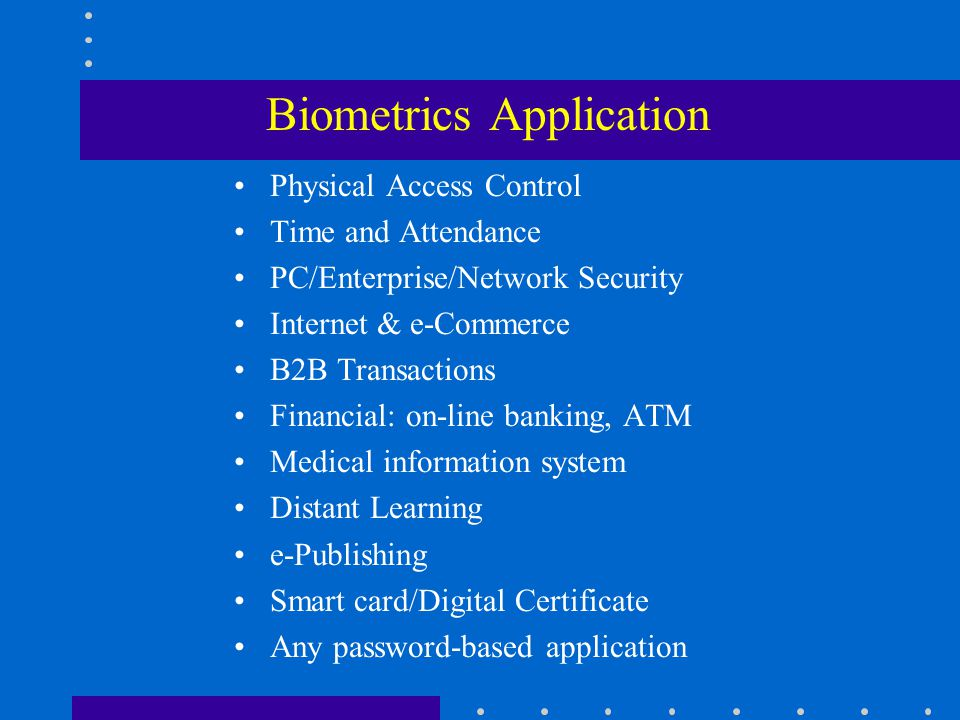 Applications of biometrics in cloud security