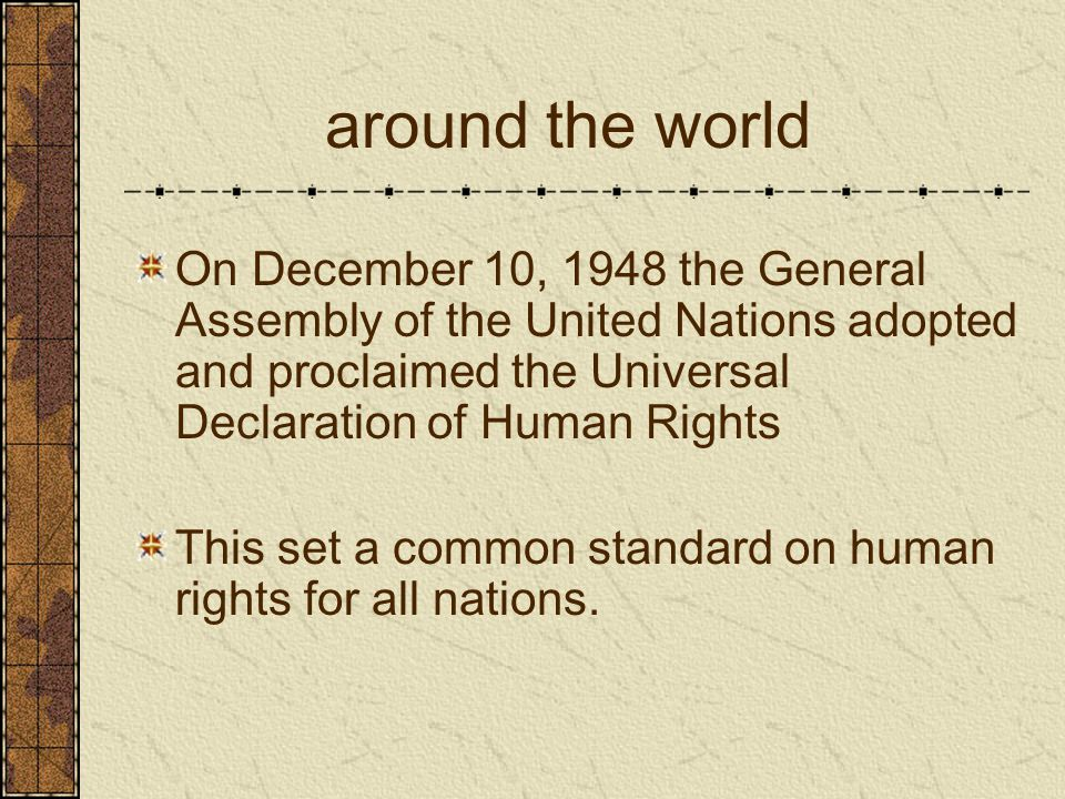 an overview of the universal declaration of human rights adopted by the united nations in 1948