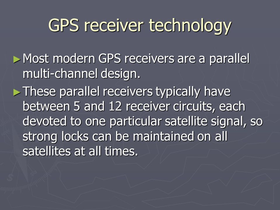 GPS receiver technology