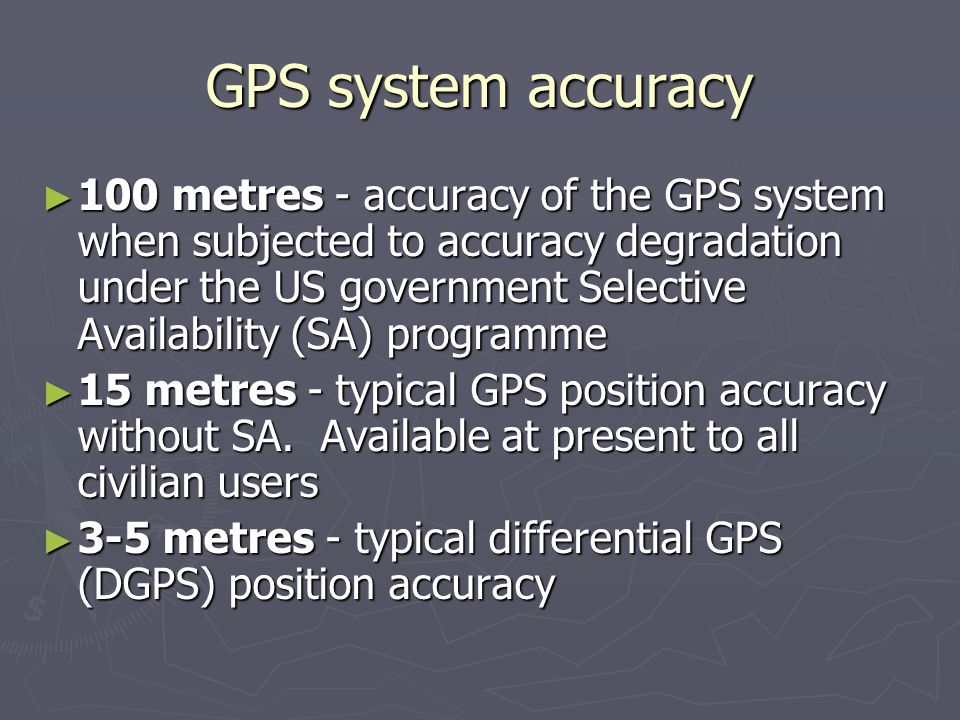 GPS system accuracy