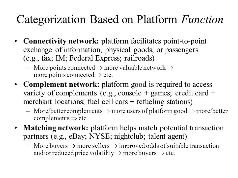 Categorization Based on Platform Function