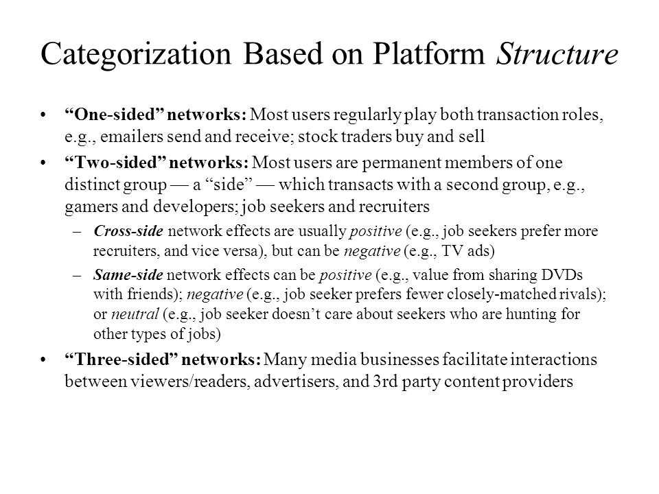 Categorization Based on Platform Structure
