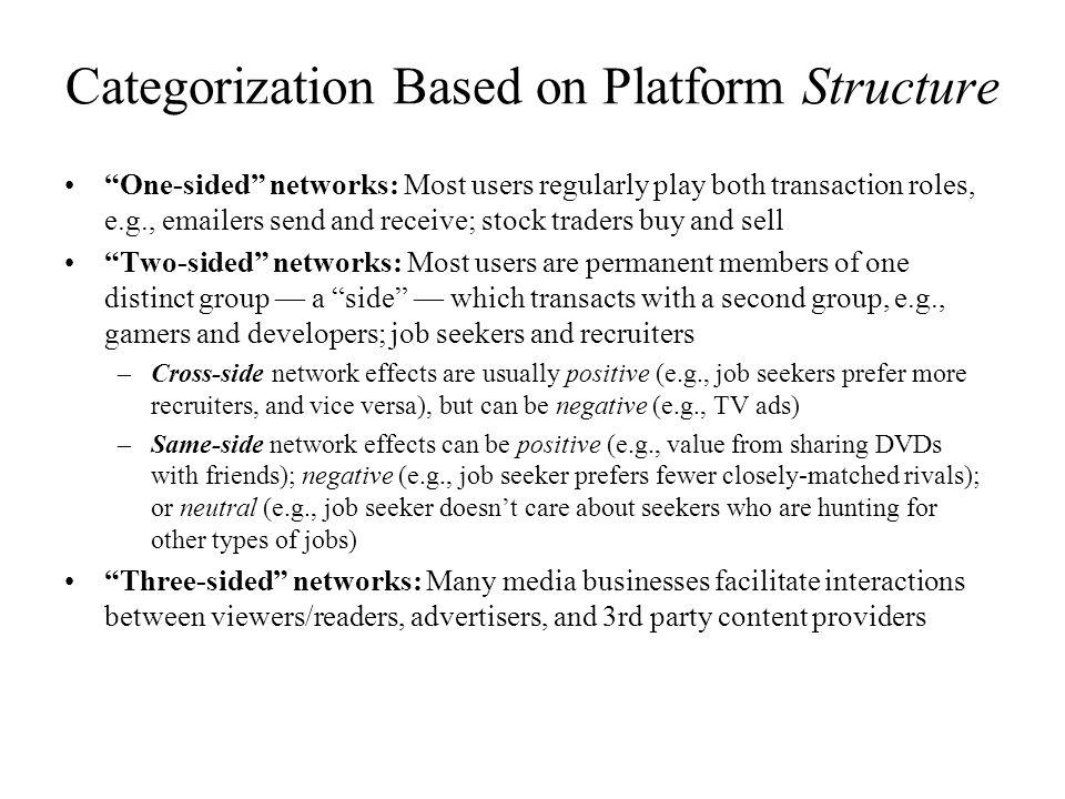Categorization Based on Platform Structure