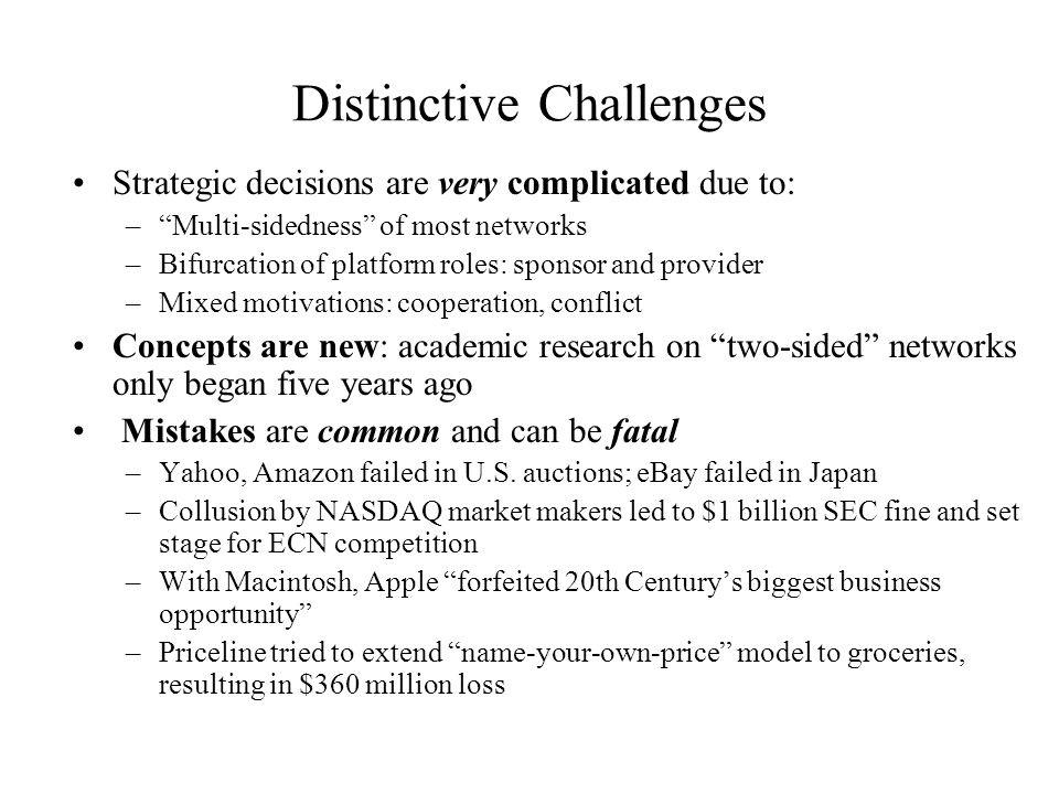 Distinctive Challenges