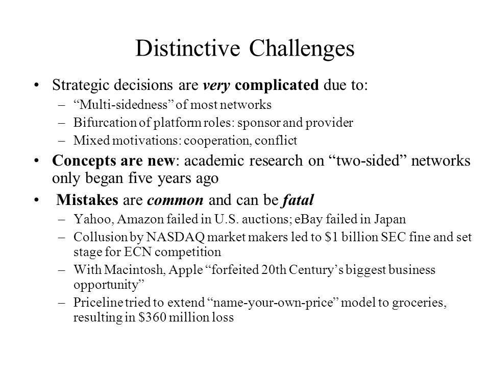 Distinctive Challenges