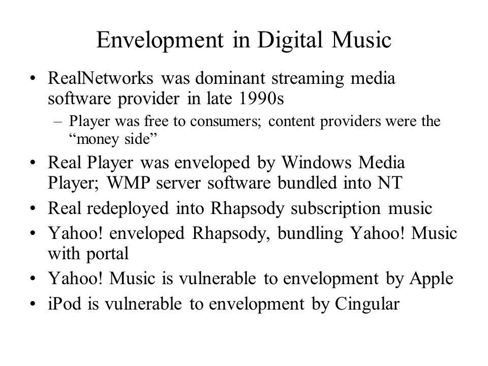 Envelopment in Digital Music
