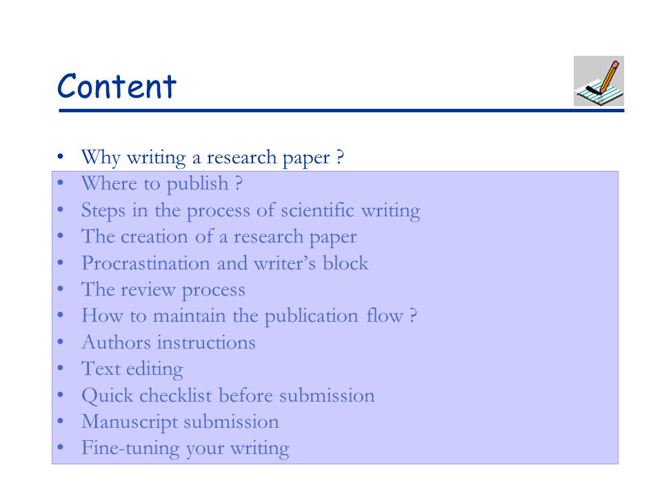 research paper writers block Writing a paper: writer's block print page report a broken link overview  as a scholarly writer, you should show up to your paper or computer full of information you have found in your research your goal is to compile a wide and deep knowledge base from which your own ideas will flow.