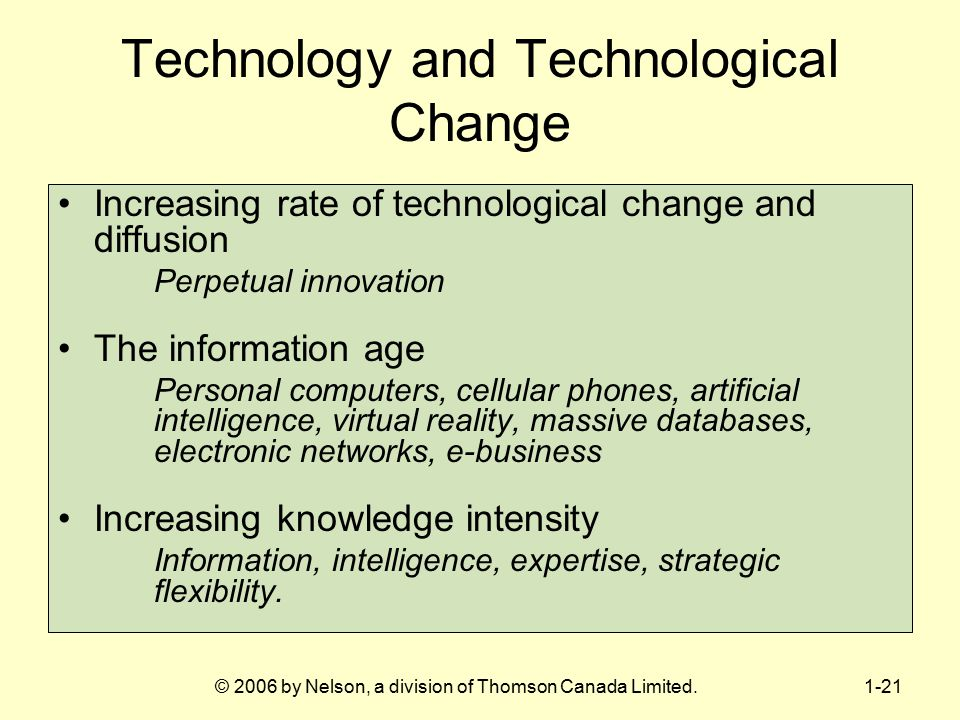 Technology and Technological Change