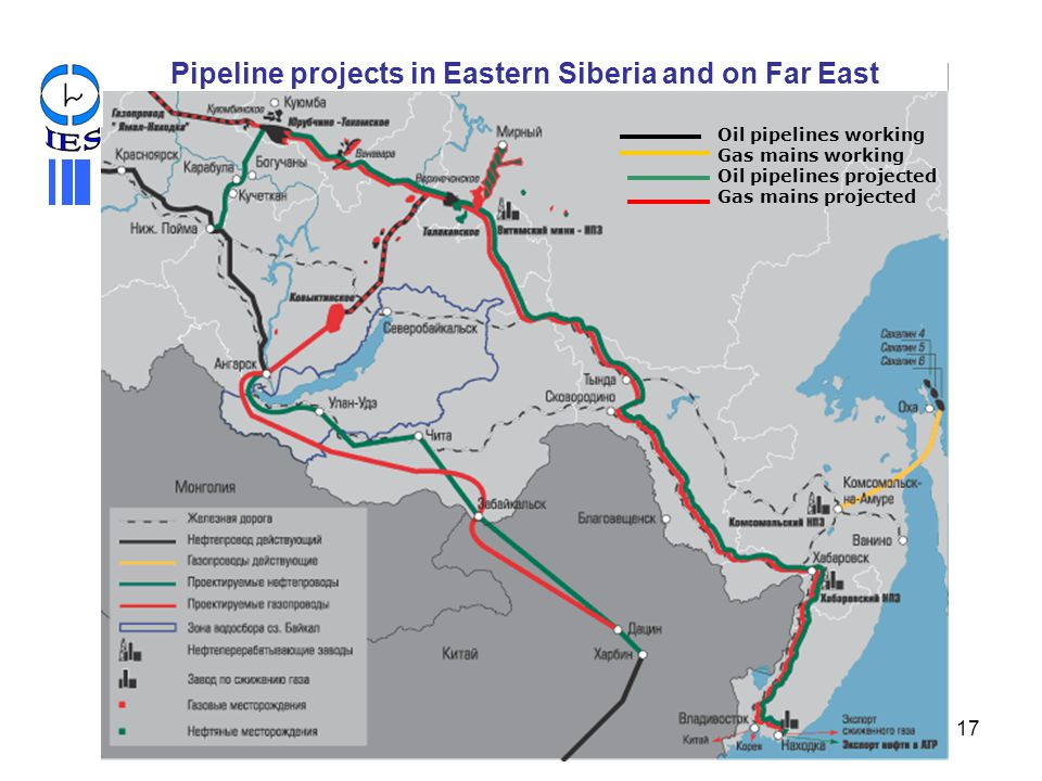 Pipeline projects in Eastern Siberia and on Far East