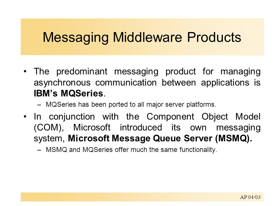 What is Middleware? Application Application Middleware Middleware