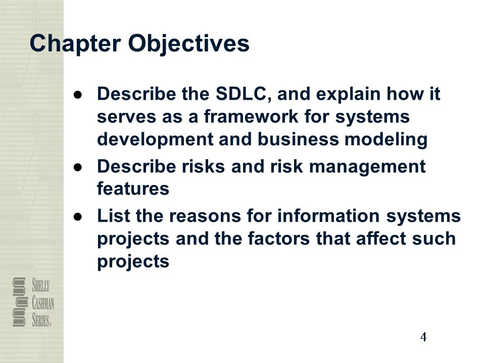Chapter Objectives Describe the SDLC, and explain how it serves as a framework for systems development and business modeling.
