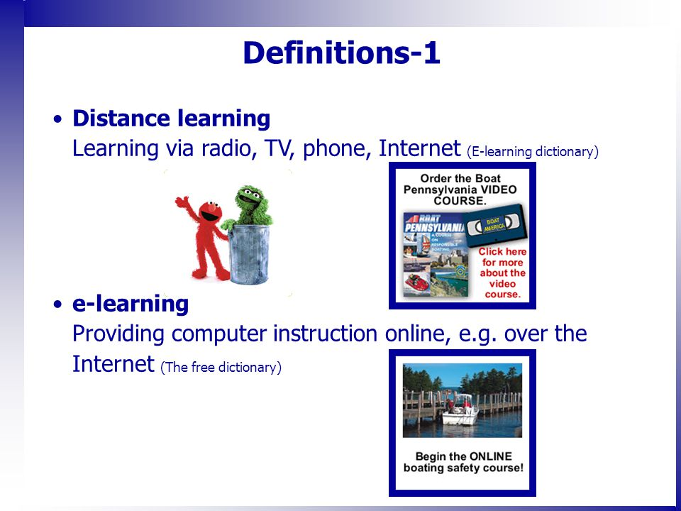 The Pros and Cons of distance learning -An example from ...