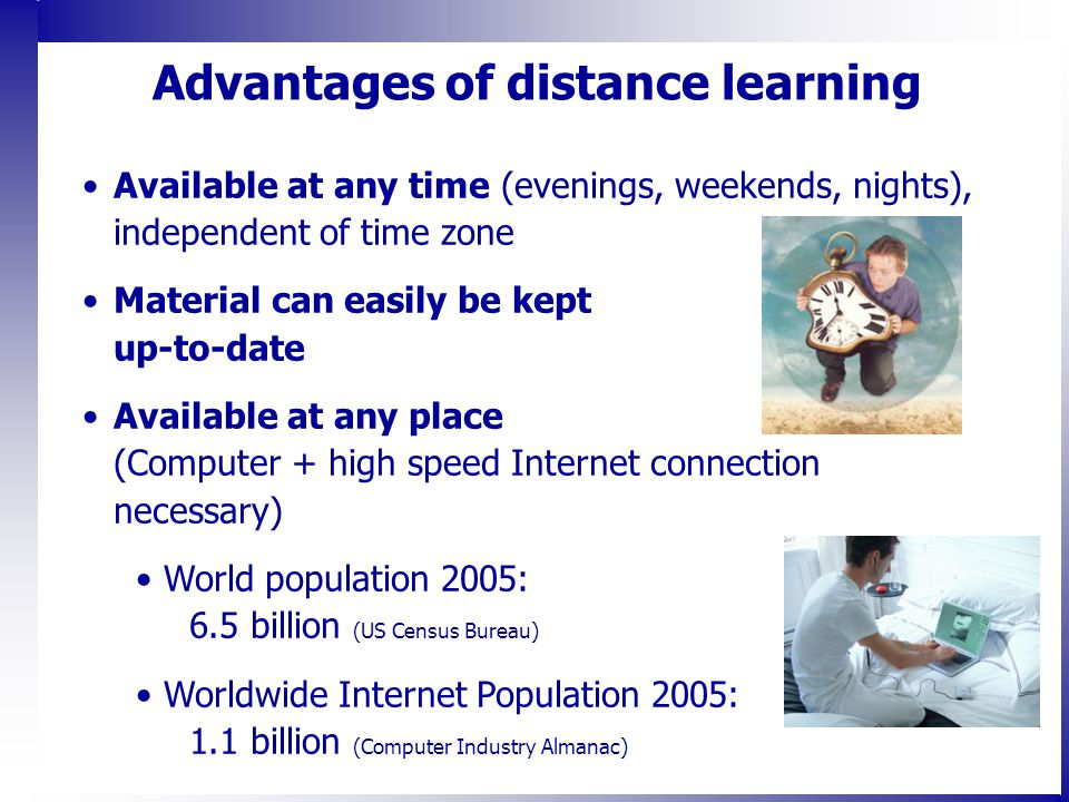 advantages of distance education Distance learning vs traditional campus college also known as distance education advantages of distance learning.