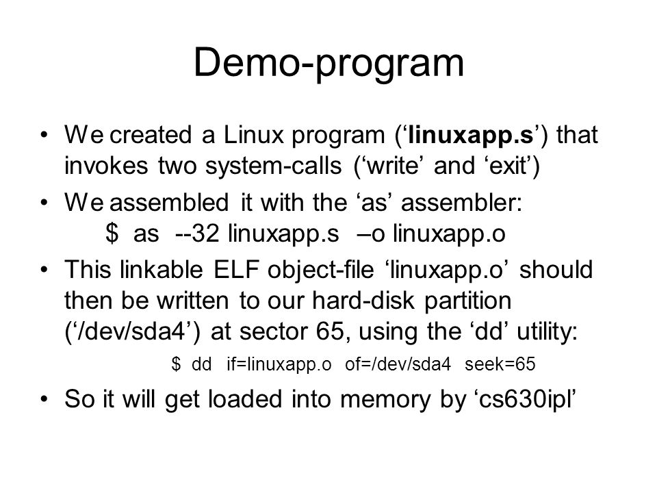 System call linux write and play