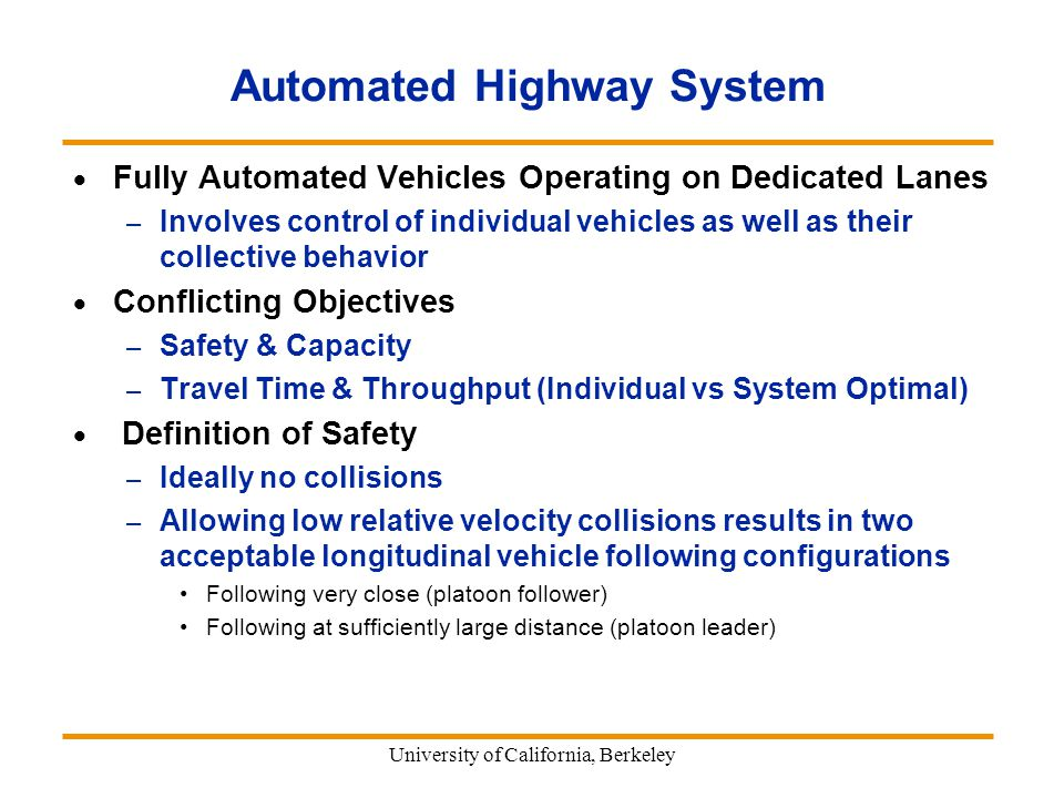 automated highway system Download a pdf of national automated highway system research program: a review by the national academies of sciences, engineering, and medicine for free.