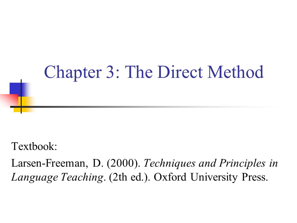 Chapter 3: The Direct Method