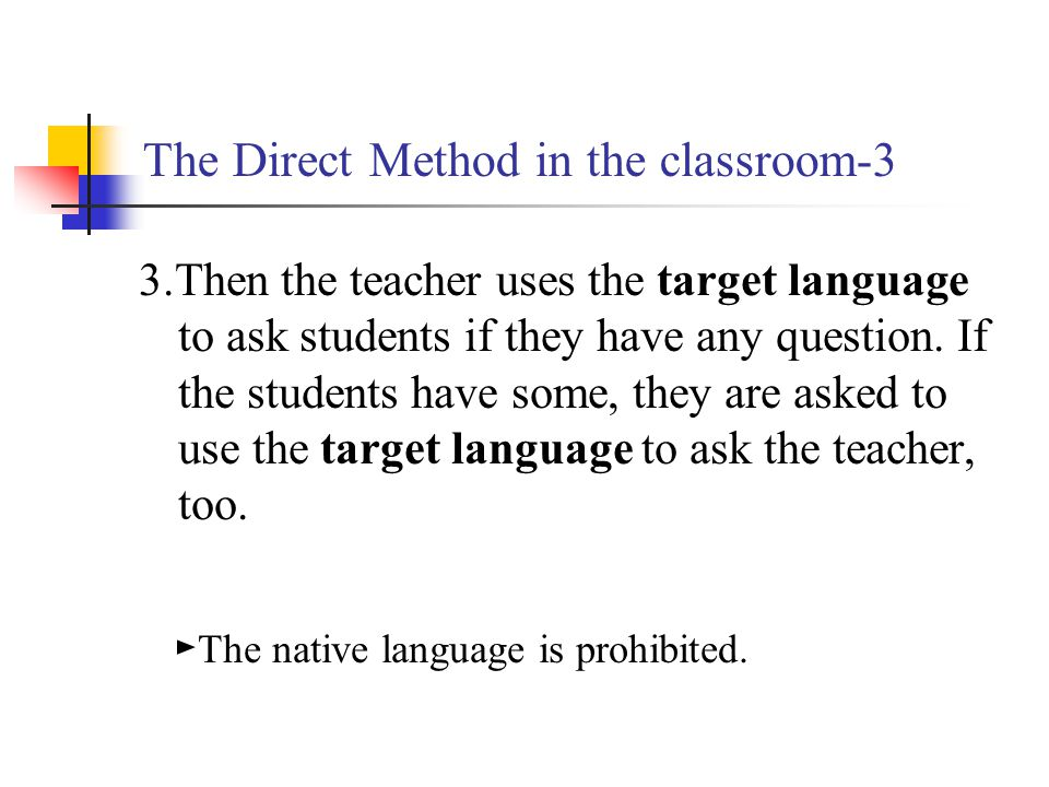 The Direct Method in the classroom-3