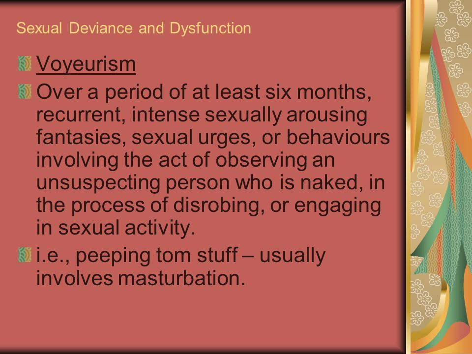 List of deviant sexual activities