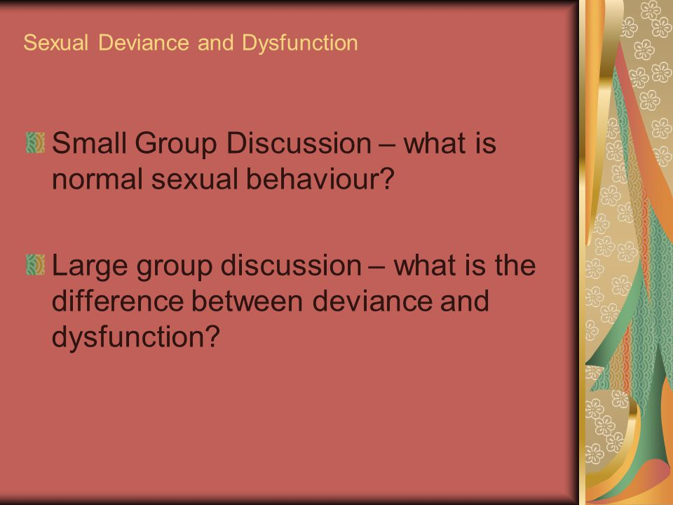 What Is Sexual Deviance