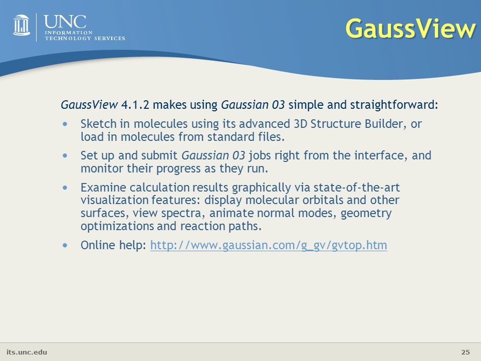 Introduction to gaussian gaussview ppt video online for 3d setup builder