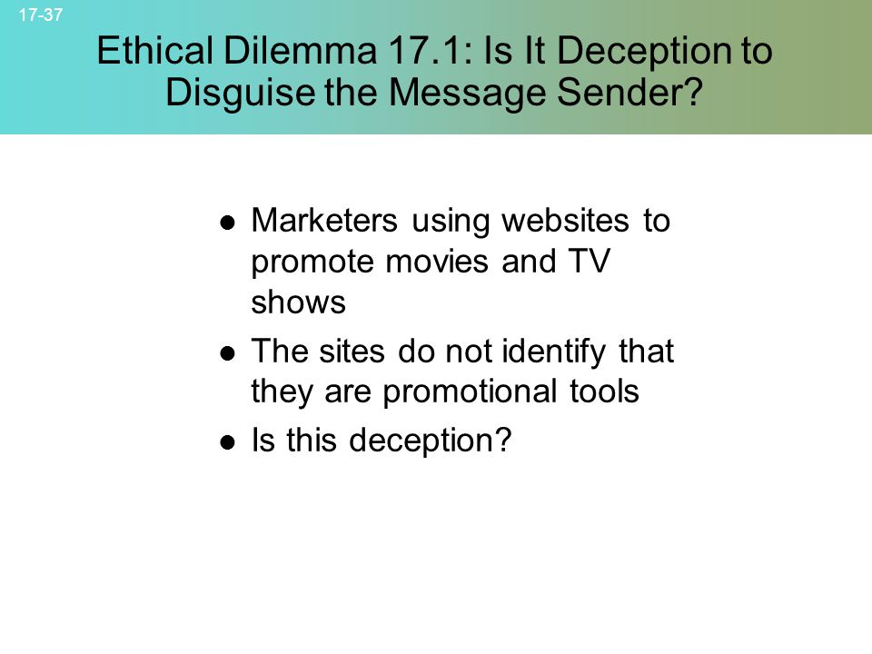 ethical dilemma of advertisements The major ethical issues that arise because of advertising are deceptive advertising, advertising to children, advertising message and negative advertising.