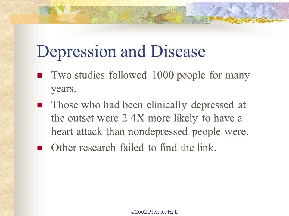 the many elements of the disease depression Studies have suggested that clinical depression — the severest form of depression — is among the most common symptoms of ms it is more common among people with ms than it is in the general population or in persons with many other chronic, disabling conditions.