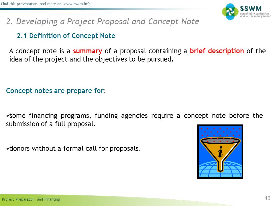 Project Proposal And Concept Note  Ppt Download