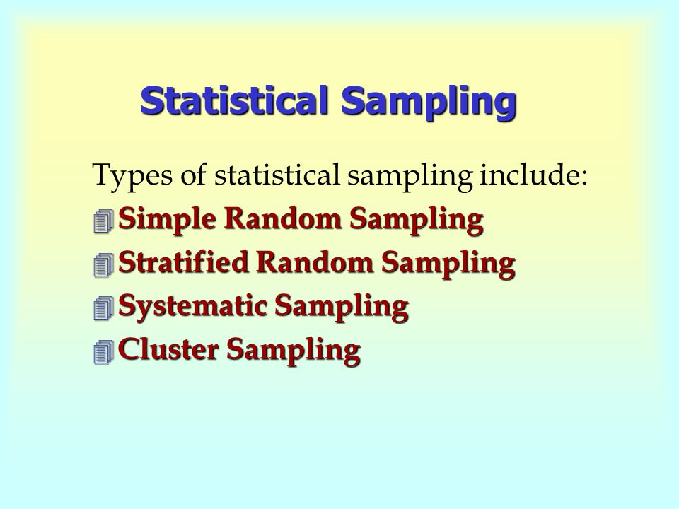 how to find every possible selection statistics