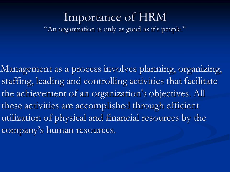 Foundations of Human Resource Management