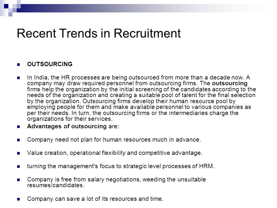 recent trends in hrm Current trends in human resource management business leaders need to be aware of the trends that will impact the operating environment in the future.