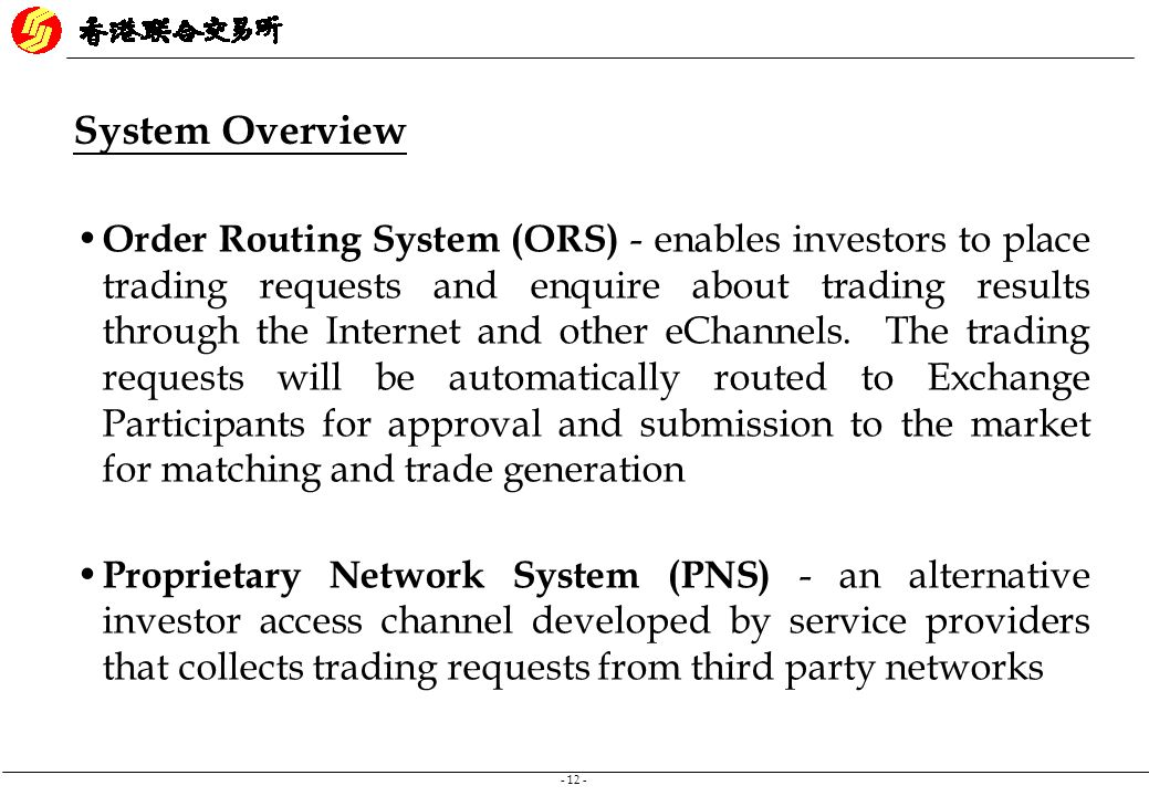 Ams/3 trading system