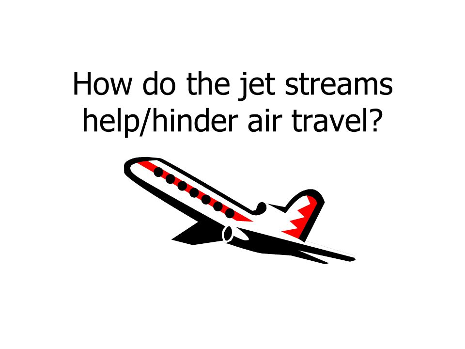 How do the jet streams help/hinder air travel