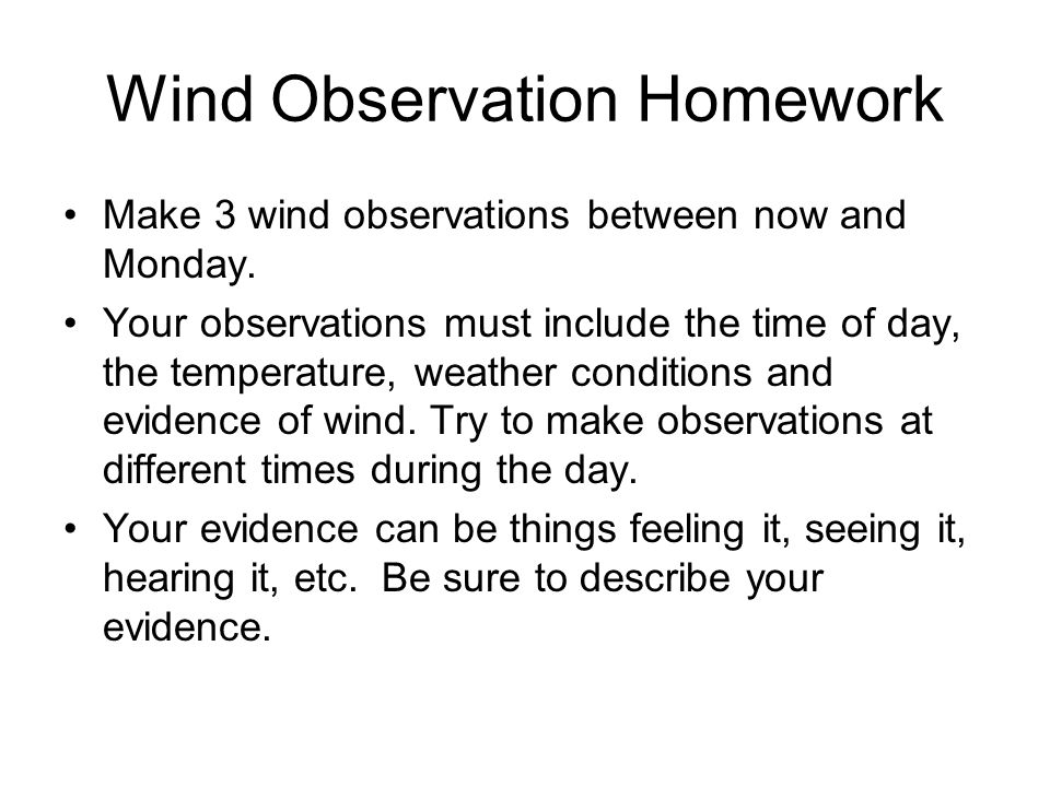 Wind Observation Homework