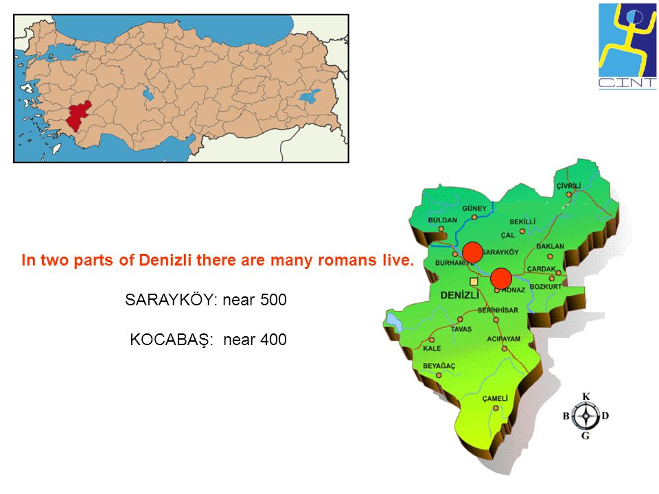 In two parts of Denizli there are many romans live.