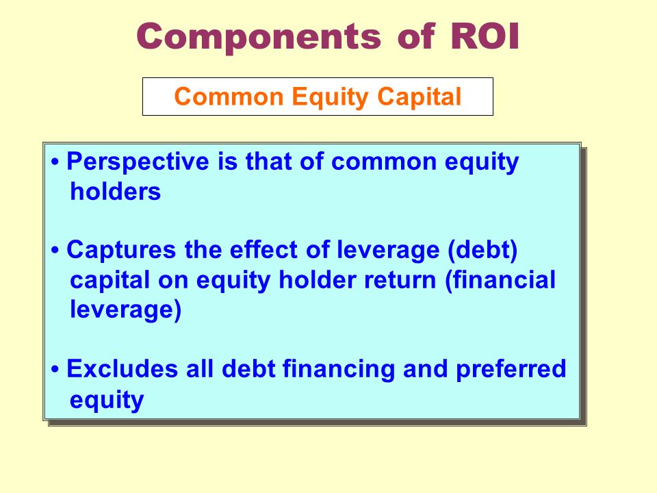 The effect of equity financing on