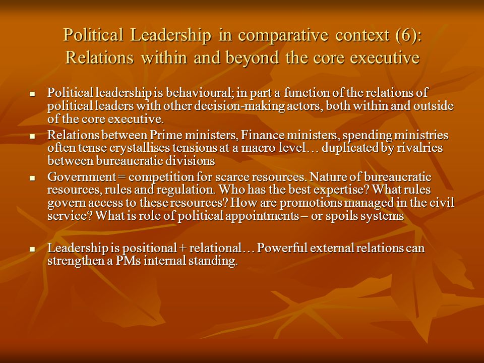 the role of political leadership in Democracy disperses and fragments leadership, making possible wide and diverse sources of political authority this observation seems to be supported by the role of monarchies in democracy.