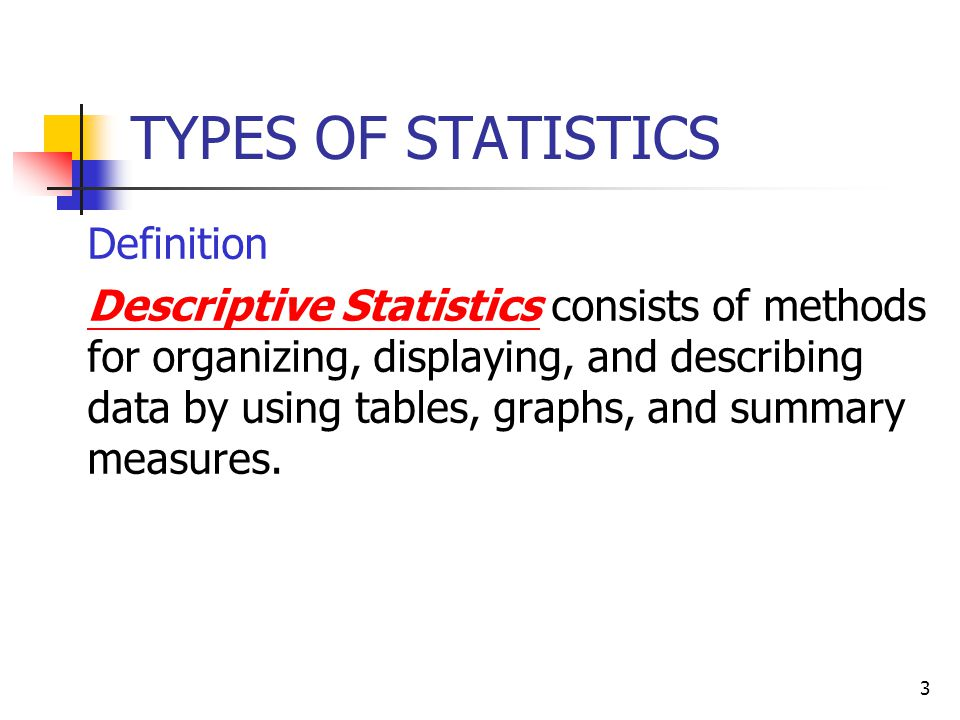 types of descriptive statistics pdf
