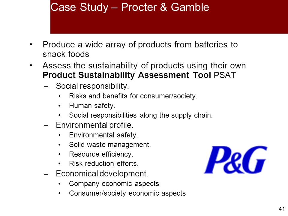 procter and gamble case study essay Read proctor & gamble free essay and over 88,000 other research documents proctor & gamble founded in 1837, procter & case study of proctor & gamble there is no.