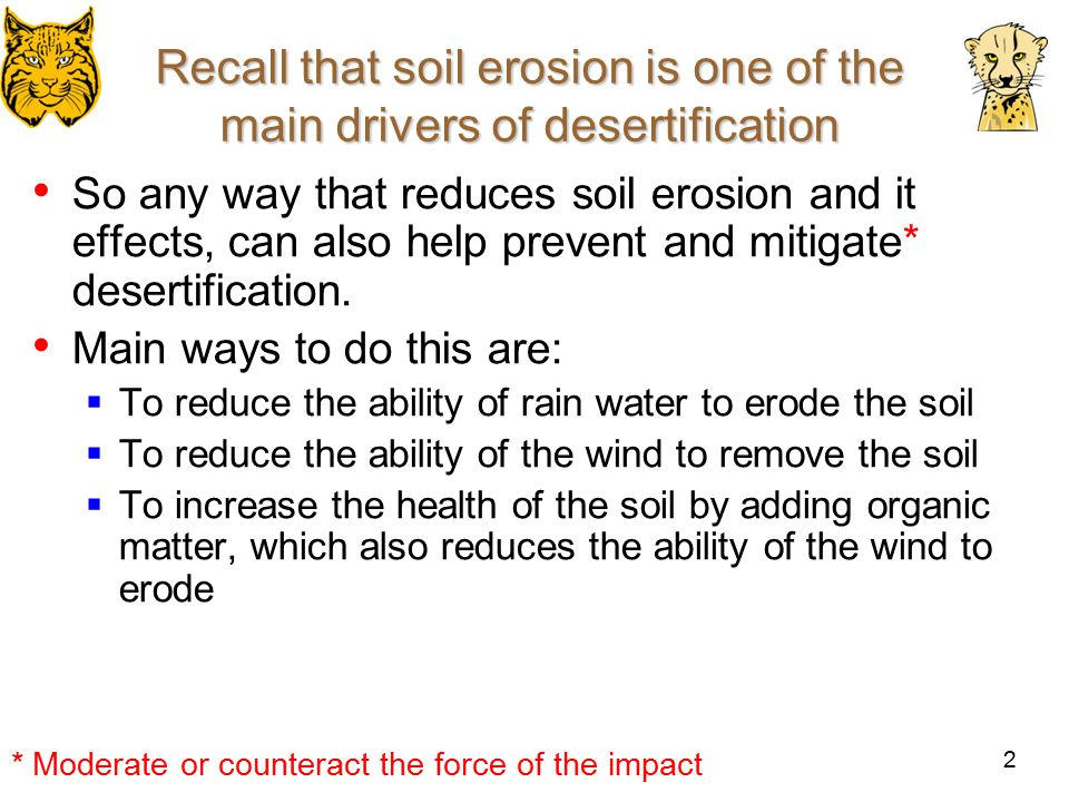 Managing The Effects Of Soil Erosion And Desertification Ppt - Desertification Us Soil Erosion Map Us