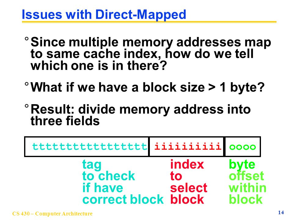 Issues with Direct-Mapped