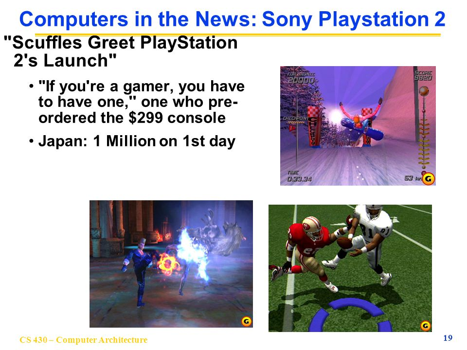 Computers in the News: Sony Playstation 2