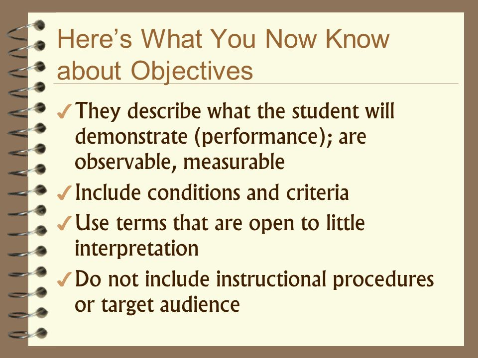 Here's What You Now Know about Objectives