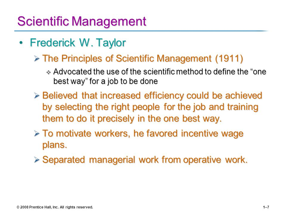 taylor principles of scientific management pdf