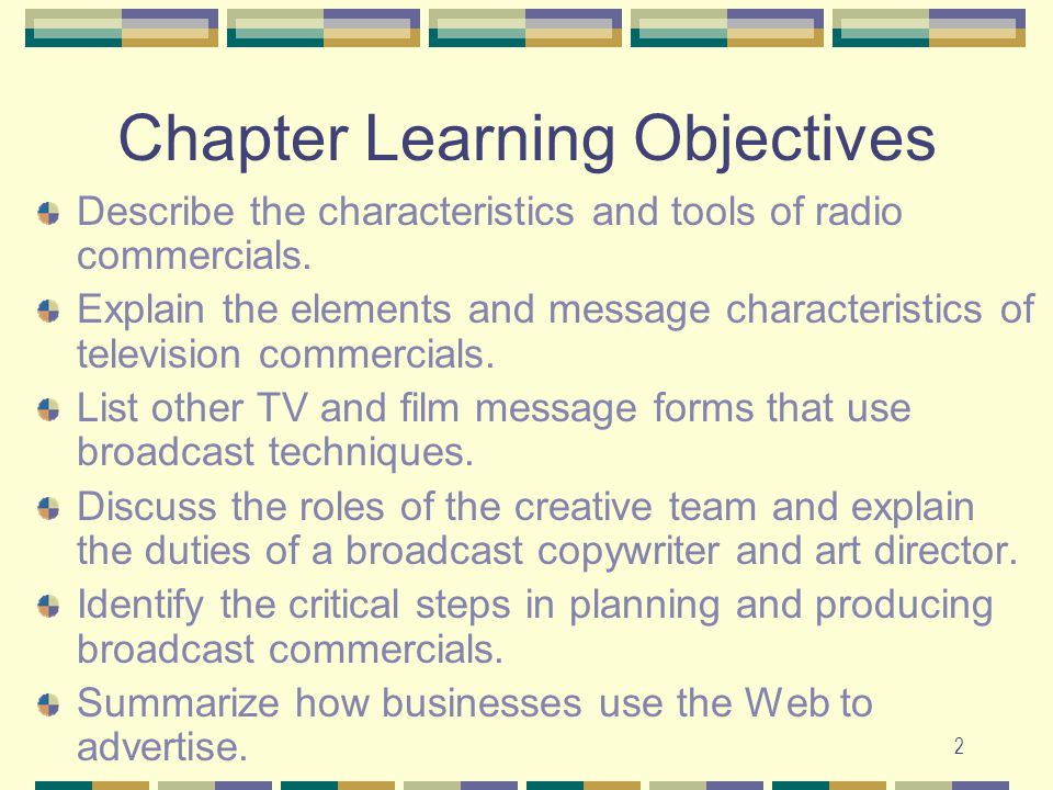 learning objectives chapter 15 Sc151 - chapter 15 learning objectives to satisfy the minimum requirements for this course, you should master the following learning objectives understand the concept of reaction rates and be able to • use a table of concentration versus time data to calculate an average rate of reaction over a period of time.