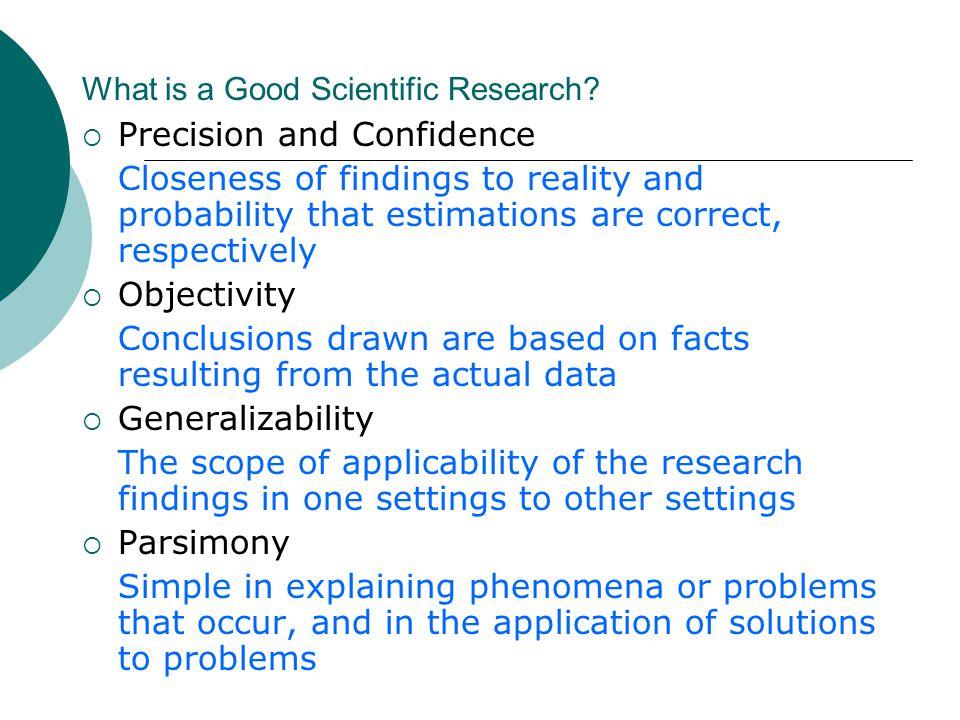 Generalizability in research