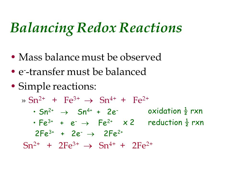 Chemistry Redox Reactions Explained Essay Sample