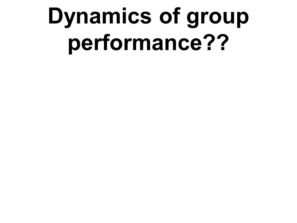 Dynamics of group performance